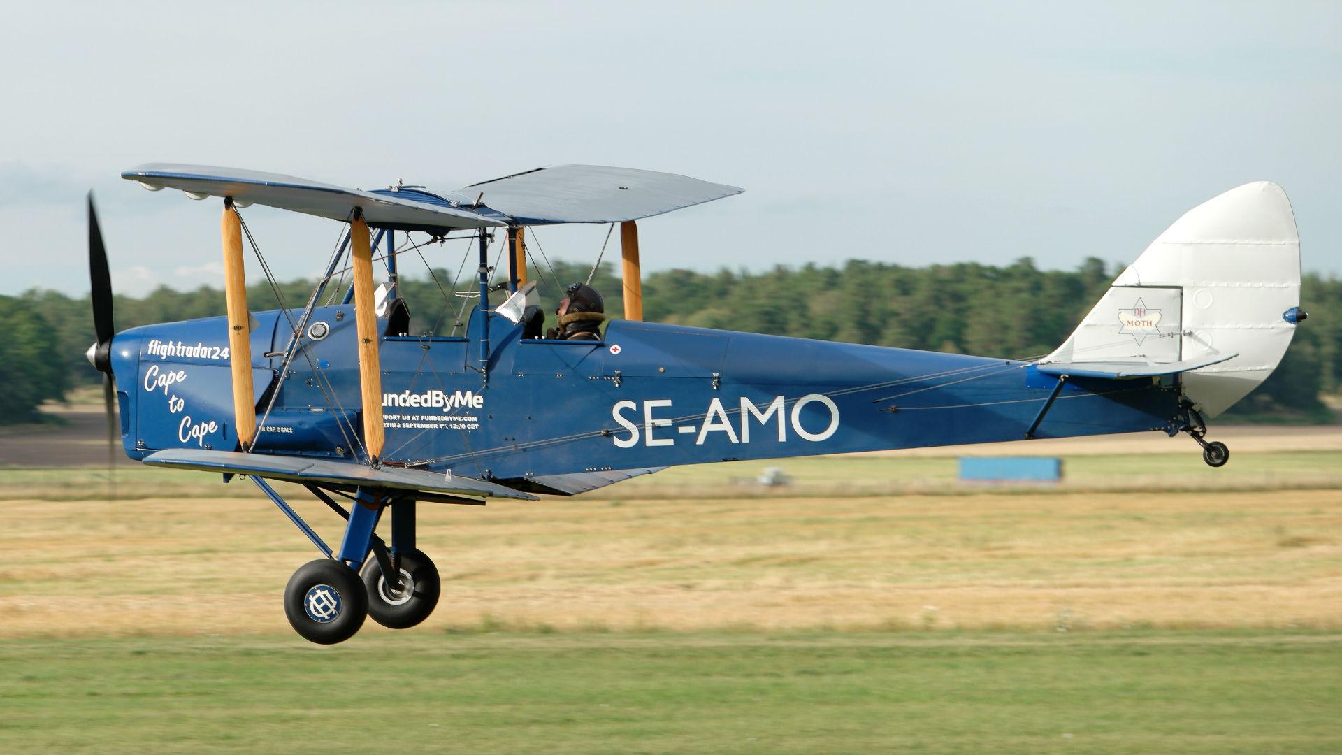 A picture of SEAMO - De Havilland DH60 Moth - [834] - © Flightradar24